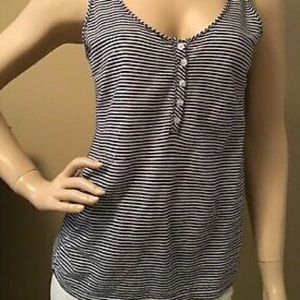 CALVIN KLEIN Striped Sequined Tank Top